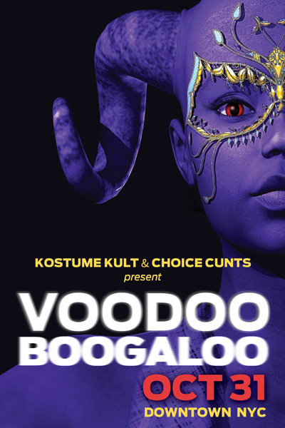 After the Parade, Kostume Kult and the Choice Cu*ts Party crew hosted a Voodoo Boogaloo party at Soiree!