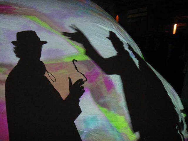 video dome shadow puppets...