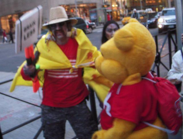 Winnie the Pooh would not take a pic without a tip in his sack... yes--- brainless.