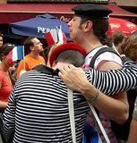2006 Faux Frenchmen mourn the loss vs Italy in Little Italy after the World Cup