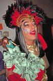 ..During the evening the dollars moved from one side of the costume to the other... redistribution.
